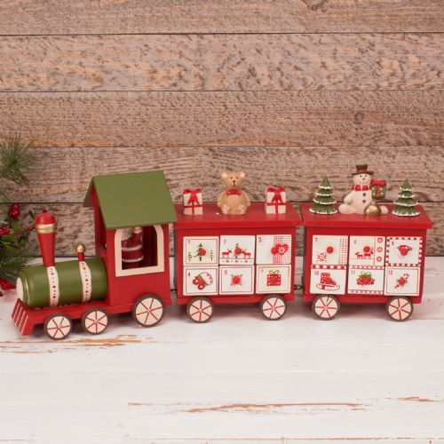 Wooden Train Advent Calendar With Treat Drawers Traditional Christmas Decoration Traditional